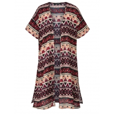 Crinkle-Kimono mit Ethno-Print Sara Lindholm gemustert