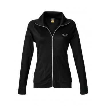 Damen Jacke mit Swarovski® Kristallen Trigema lagune