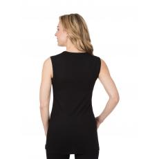 Damen Trägershirt aus Merinowolle Trigema schwarz