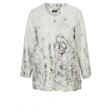 Extravagante Jacke mit floralem Print Via Appia Due grün multicolor