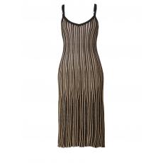 Feinstrick-Kleid mit Glitzergarn Sara Lindholm schwarz/gold