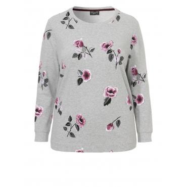 Feminines Sweatshirt mit floralem Print Via Appia Due grau multicol. | 153