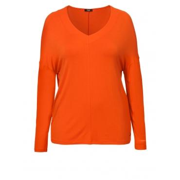 Feminines Casual V-Shirt Frapp rot