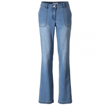 Flare Cut Jeans Angel of Style blue bleached