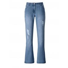 Flare Cut Jeans Janet & Joyce blue bleached