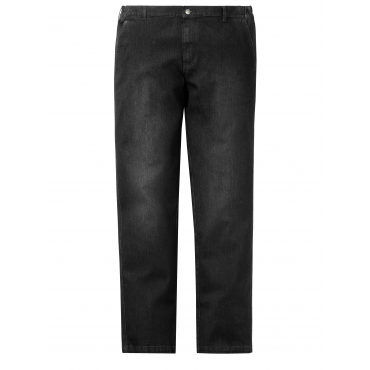 Flatfront Jeans Men Plus Schwarz