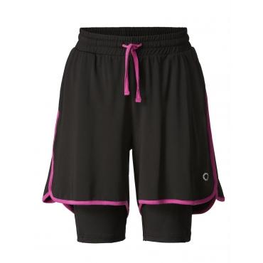 Funktions-Sportshorts schwarz-magenta