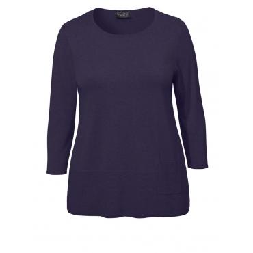 Gemütlicher 3/4-Pullover mit Tasche Via Appia Due ROT