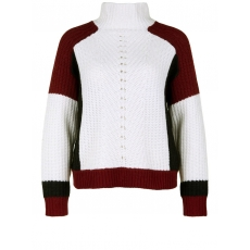 Grobstrickpullover COLORBLOCK JUMPER CAPITAL B off white/ruby red
