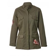 Jacke im Military-Style mit Souvenir-Stickerei Angel of Style khaki
