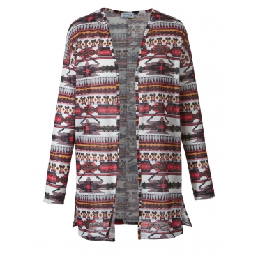 Jacke in Oversize-Form mit Ethno-Print Angel of Style bordeaux