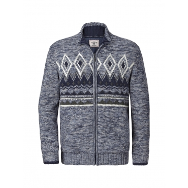 Jan Vanderstorm Outdoor Strickjacke ARBOGAST Jan Vanderstorm blau