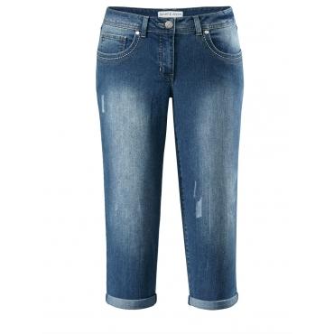Jeans in Caprilänge Janet & Joyce blue bleached