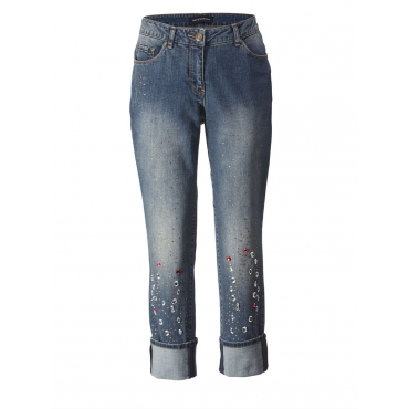 Jeans knöchellang mit Strass Sara Lindholm blue-denim