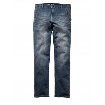 Jeans Men Plus blue overdyed