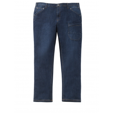 Jeans Men Plus blue used overdyed