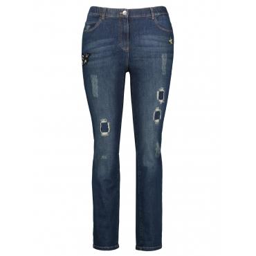 Jeans mit Applikationen Betty Jeans Samoon Dunkelblau Denim