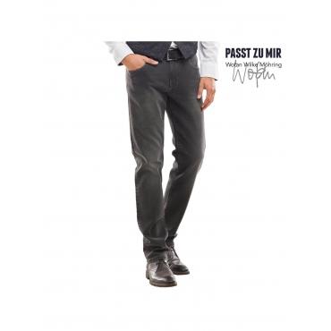 Jeans mit lässigen Wascheffekten Engbers Anthrazit