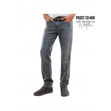 Jeans mit modischen Steppnähten Engbers Zementgrau