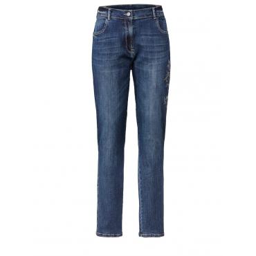 Jeans mit Stickerei No Secret deep blue used