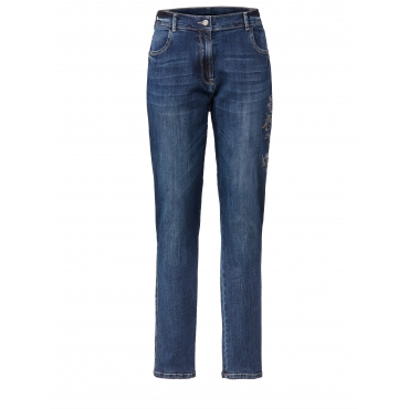 Jeans mit Stickerei No Secret Dunkelblau