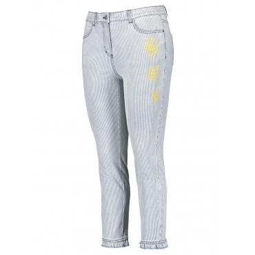 Jeans mit Streifen-Dessin Betty Samoon Indigo gemustert