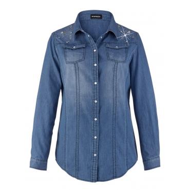 Jeansbluse MiaModa blau