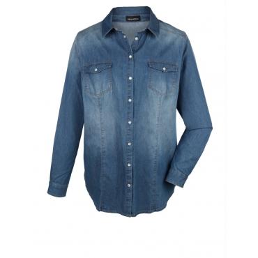 Jeansbluse MIAMODA blue denim