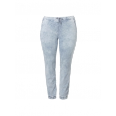 Jeansige Jogg-Pants mit Lyocell Via Appia Due jeans hellblau