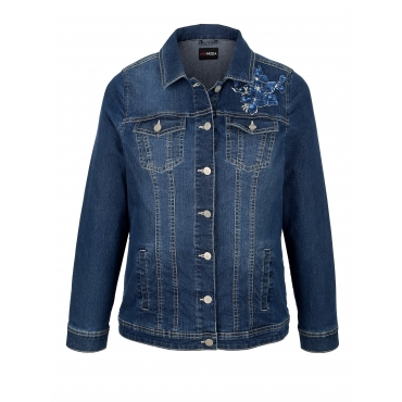 Jeansjacke MIAMODA Dark blue