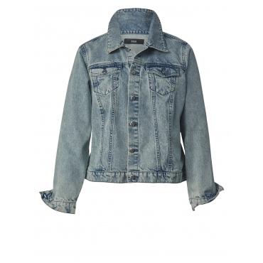 Jeansjacke mit Rückenprint Zizzi Hellblau