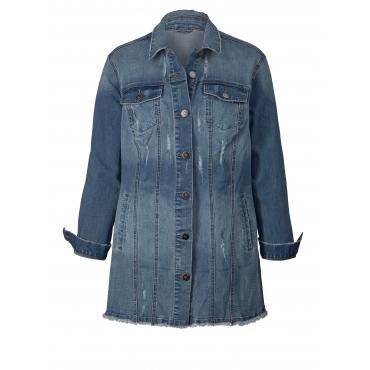 Jeansjacke mit Stickerei Angel of Style Blau