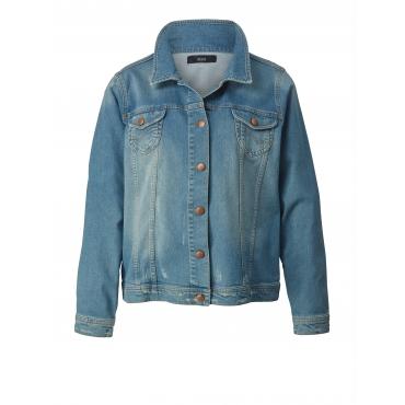 Jeansjacke mit Stickerei Zizzi Blau