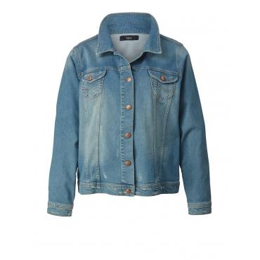 Jeansjacke mit Stickerei Zizzi blue denim