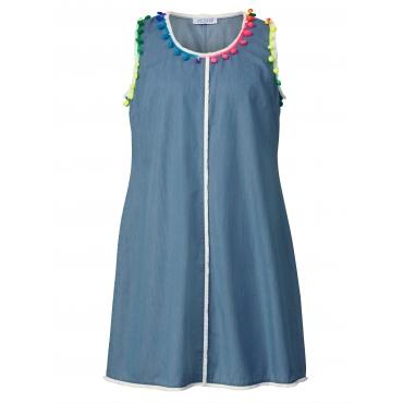 Jeanskleid mit Fransen Angel of Style Blau