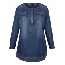 Jeanstunika MIAMODA blue denim