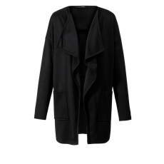 Jersey-Jacke mit Zipfelsaum Sara Lindholm schwarz
