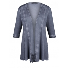 Jersey-Jacke oil wash Sara Lindholm blau oil wash