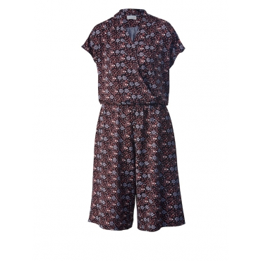 Jersey-Jumpsuit mit Allover-Print Angel of Style Schwarz