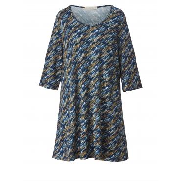 Jersey-Kleid mit Allover-Print Janet & Joyce Blau