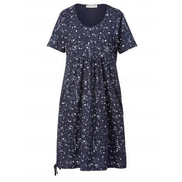Jersey-Kleid mit Allover-Print Janet & Joyce Marineblau
