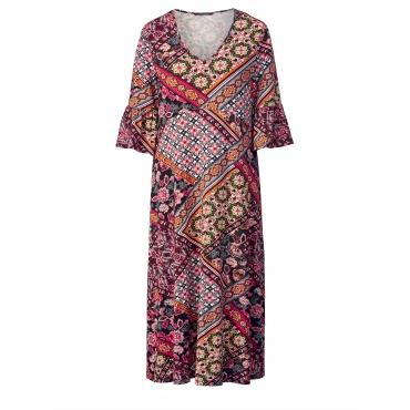 Jersey-Kleid mit Allover-Print Sara Lindholm Multicolor
