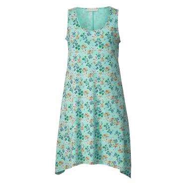 Jersey-Kleid mit Blumen-Print und Zipfelsaum Janet & Joyce Türkis