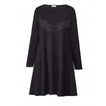 Jersey-Kleid mit Fransen Angel of Style Schwarz