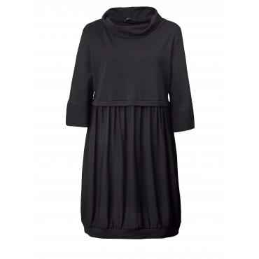 Jersey-Kleid mit halsfernem Rollkragen Sara Lindholm Schwarz