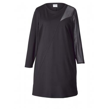 Jersey-Kleid mit Mesh-Einsatz Junarose Schwarz
