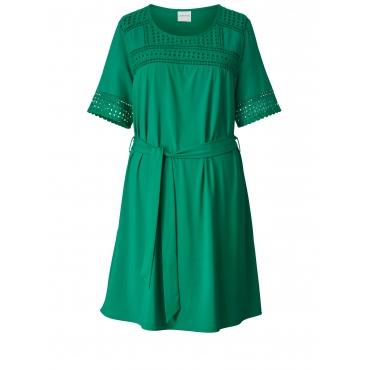 Jersey-Kleid mit Spitze Junarose Grün
