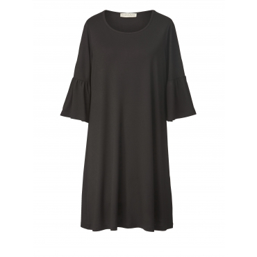 Jersey-Kleid mit Volants Janet & Joyce Schwarz