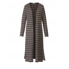 Jersey-Mantel gestreift Angel of Style schwarz/silber