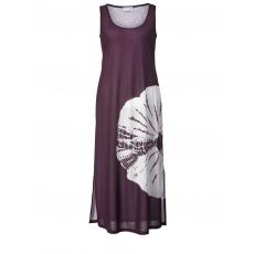 Jersey-Maxikleid mit Batik-Print Angel of Style pflaume